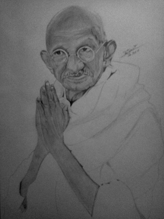 Mahatma Gandhi por Ikigami
